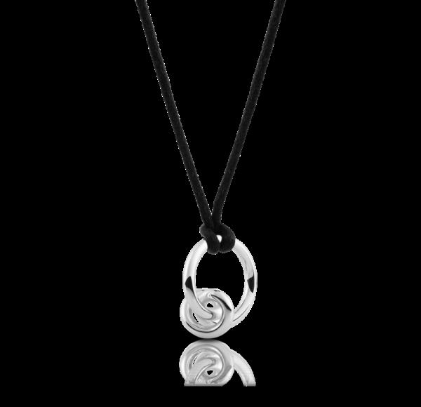 foto zilveren knoop Ring